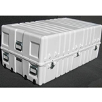 Parker Plastics Shipping Container with Recessed Edge Casters and Lift Off Lid SW 5730-22-T