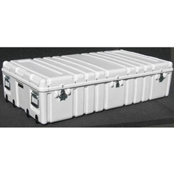 Parker Plastics Shipping Container with Recessed Edge Casters and Lift Off Lid SW 5730-14-T