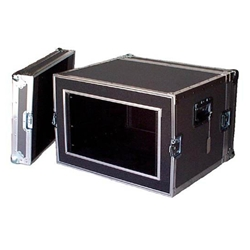 "Atlas ATA 1/4"" Plywood Shock Mount 6U Rack Space Case"