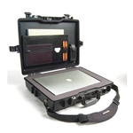 Pelican Protector Laptop Computer Case 1495CC2 With Foam Bottom and Lid Organizer